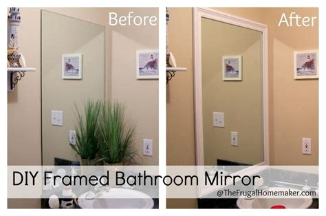 framing your bathroom mirror how to frame your bathroom mirrors inspired