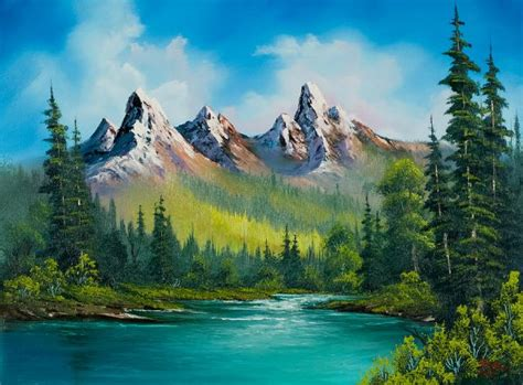 bob ross paintings original for sale bob ross country 86155 painting bob ross