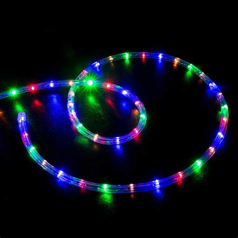 rope light multi color 50 multi color rgb led rope light home outdoor