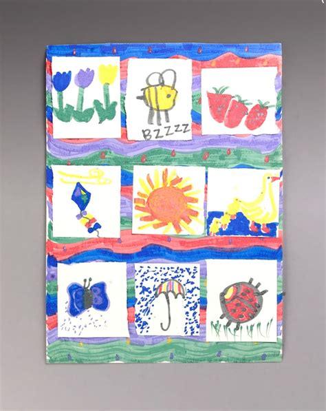 paper quilt craft garden quilt craft crayola