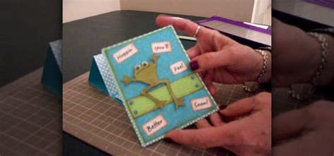 how to make get well cards how to make a get well pedestal card using cricut paper