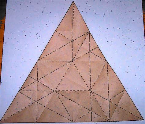 triangle box origami triangle box crease pattern flotsam and origami jetsam