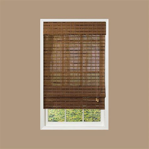 l shades with radiance pecan bamboo shade 70 in w x 64