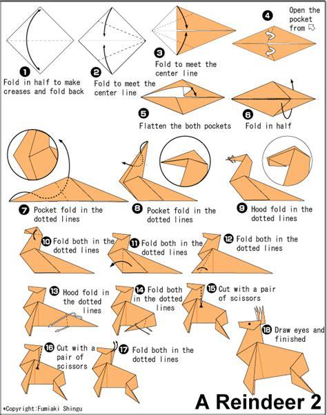 origami deer diagram origami deer craft ideas
