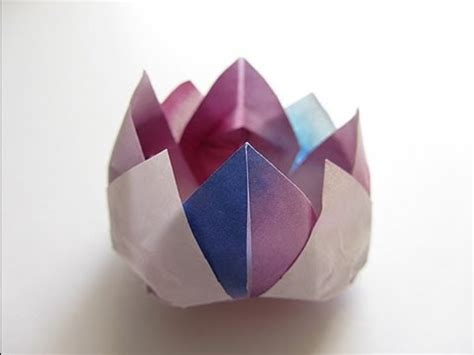 how to fold origami lotus origami traditional lotus