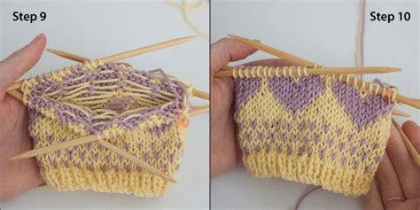 two colour knitting patterns free tutorial knitting with two colors a free pattern ewe