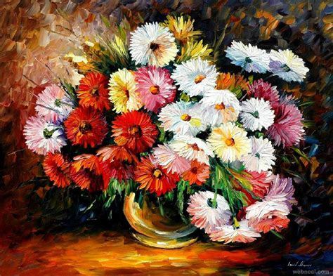 flower painting pictures flower paintings 11