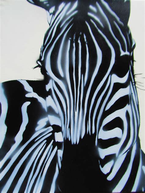 spray paint stencils zebra stencil