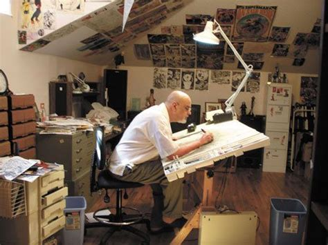 picture book studio comic book artists drawing board and comic books on