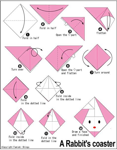 easy origami rabbit origami rabbit s coaster