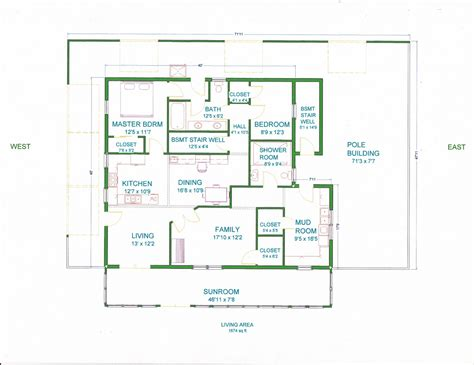 pole barn home plans grama sue s floor plan play land house a pole barn