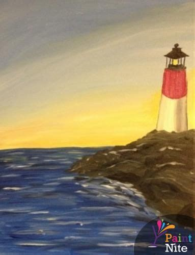 paint nite bay paint nite providence oxford tavern may 28th quot lighthouse