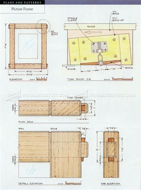 woodworking plans picture frames picture frame plans woodarchivist