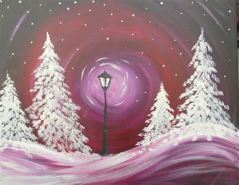 paint nite winter on this winter s for