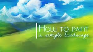 how to paint how to paint a simple landscape background in sai