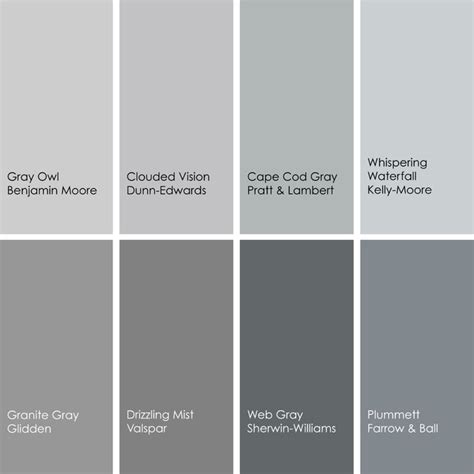 paint colors grey gray paint color names