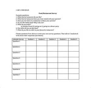 restaurant survey template 5 download free documents in