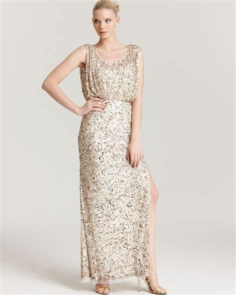 gold beaded gowns aidan mattox beaded gown in gold light gold
