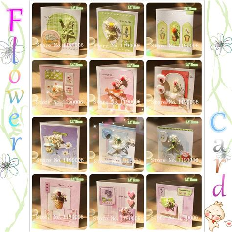 Free Shipping Wholesale Real Flowers Greeting Cards