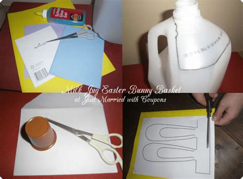 milk crafts for milk jug easter bunny basket craft cutefetti