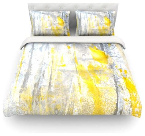 Spa Artwork For Bathrooms by Carollynn Tice Quot Abstraction Quot Grey Yellow Duvet Cover