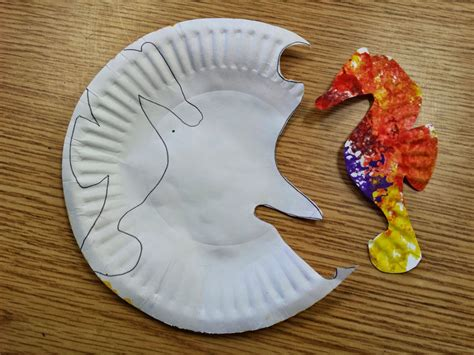 seahorse crafts for colors and kindergarten sea turtles and sea horses