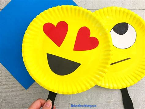 craft with paper plate emoji paper plate craft emotions theme