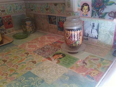 decoupage countertops my rental decoupage your kitchen counters don