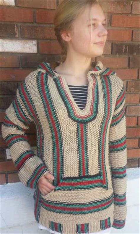 mexican knitting retro hippie hoodie knitting patterns and crochet