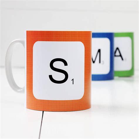 scrabble letter mug personalised scrabble letter mug by a of