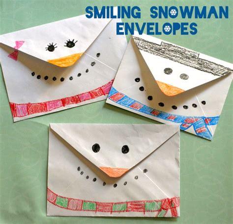 envelope crafts for smiling snowman envelopes make and takes