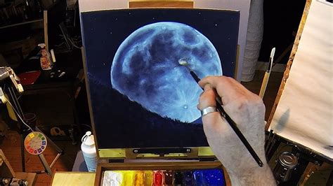 acrylic painting moon how to paint a moon acrylic painting lesson preview