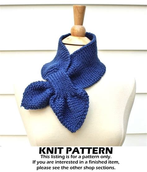 ascot scarf knitting pattern keyhole scarf knitting pattern knit ascot scarf pattern