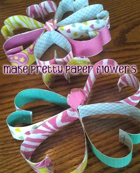 paper flower craft for children how to make a pretty paper flower craft with woo