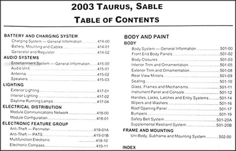 2003 ford taurus owners manual pdf