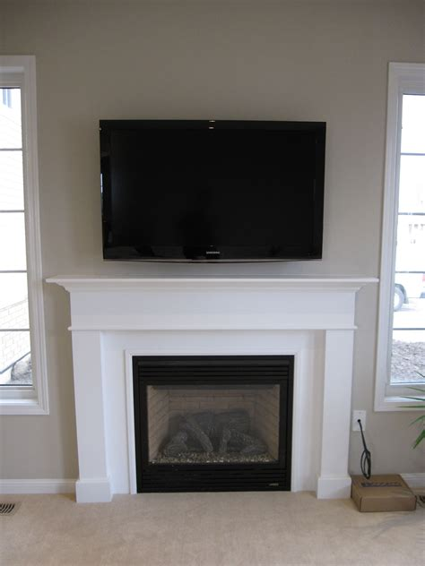 furniture fireplace designs with tv above living room
