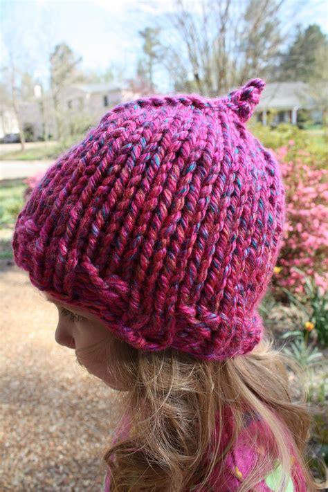 child knit hat pattern snapdragon crafts bulky child hat knitting pattern