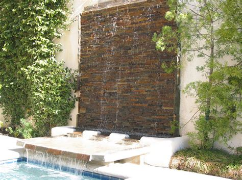 backyard water wall backyard water wall make your house features stunning