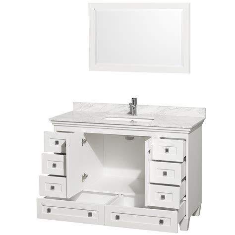 white bathroom vanities cabinets acclaim 48 quot white bathroom vanity set