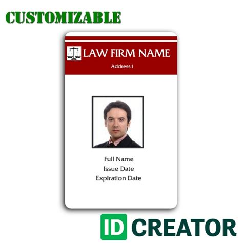 id card id card template made for an attorney from idcreator