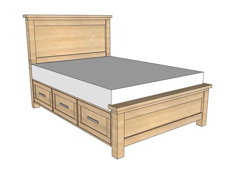 building a bed frame with storage white farmhouse storage bed with storage drawers