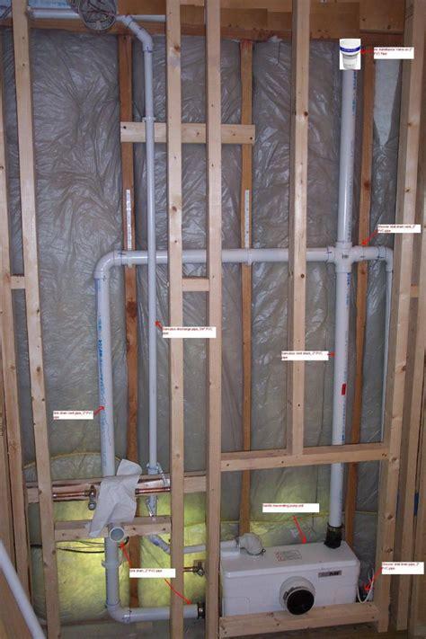 install plumbing install bathroom basement bathroom