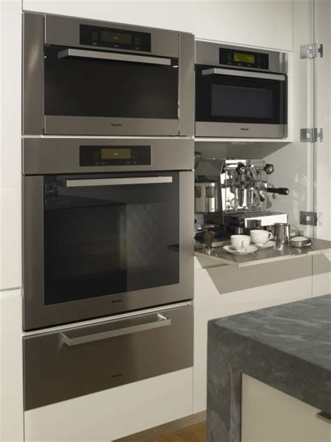 Miele Ovens and Espresso Cabinet   Modern   Kitchen   San Francisco   by Jeff King & Company