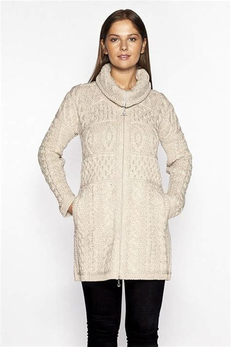 knit sweater coat cable knit sweater coat aran sweaters direct