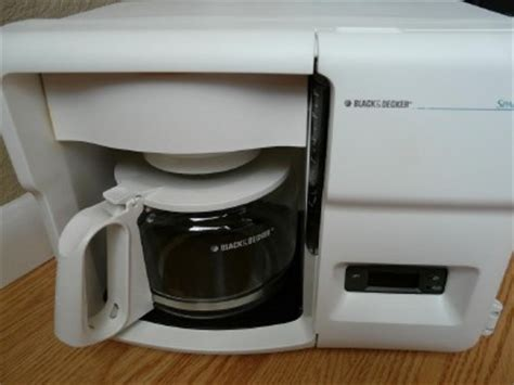 black and decker cabinet coffee maker black decker spacemaker coffee maker pot counter cabinet odc 325 ebay