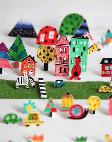 paper craft city idea let draw color and cut 3d paper city