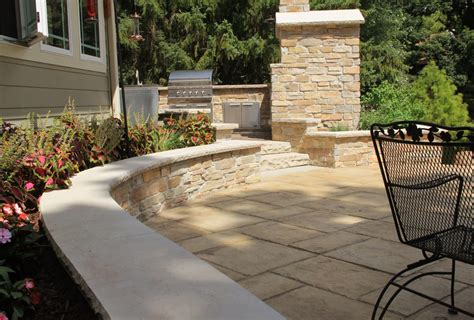 large patio pavers large tile patio pavers with seating retaining wall and