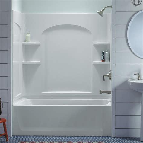 sterling bathroom showers sterling ensemble 71220110 60w x 74h in curve bathtub