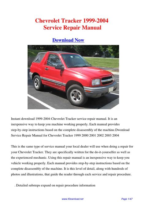 1999 chevrolet tracker dash owners manual service manual removing the console on a 2003 chevrolet chevrolet tracker 1999 2004 factory repair manual by gipusi samu issuu