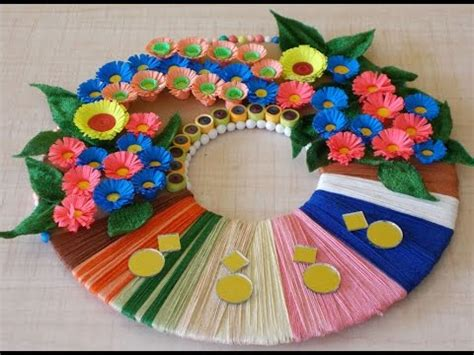 how to make handmade crafts for home decoration diy room decor diy wreath for home decoration